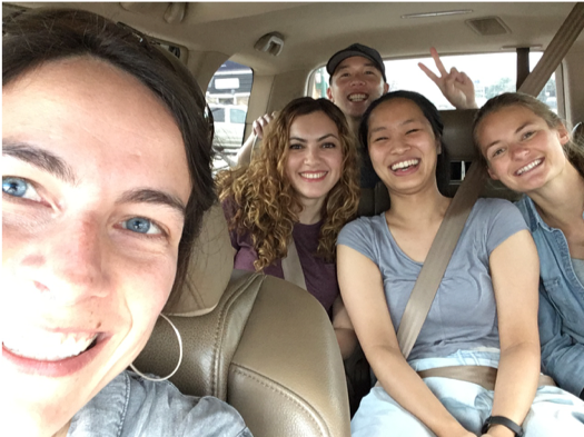 Lab fam on a trip.